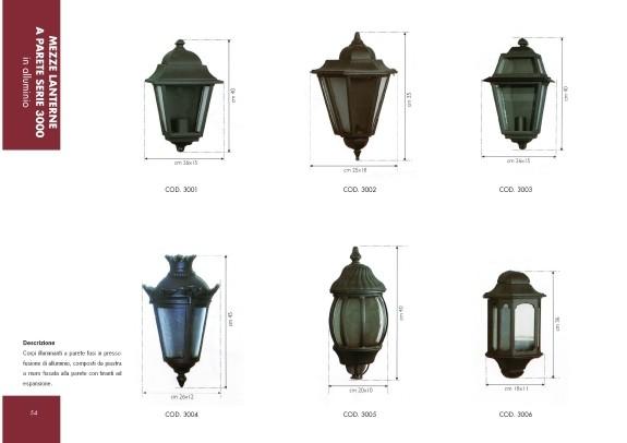 Lanterne Da Giardino A Muro : Spazio arredo urbano mezze lanterne a parete in alluminio
