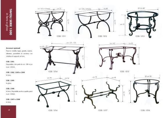 Spazio Arredo Urbano - Tavoli in ferro e ghisa